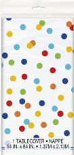 Happy Birthday Confetti Party Plastic Tablecover